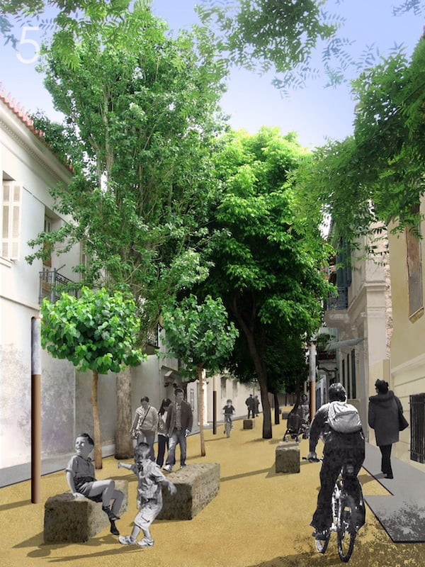 Greening of the City – Thomas Doxiadis plans renewal through greenery and the construction of a mall.