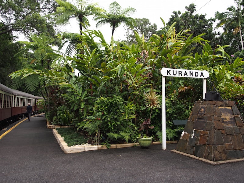 Kuranda Station is famous for its gardens