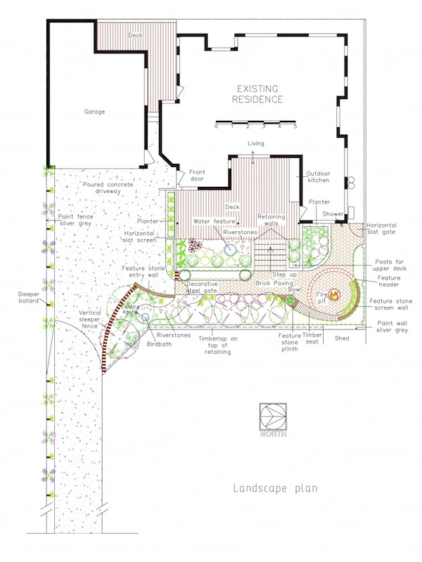 Landscape Plan. Design by Linda Green, Hidcote Design
