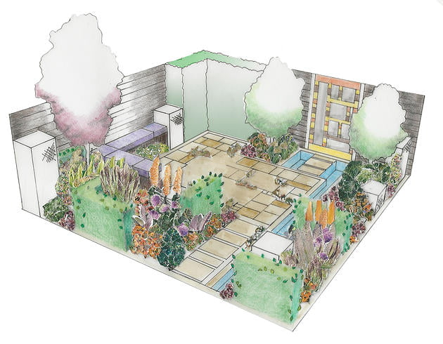 'Slow Burn' BBC Gardeners World Live 2015. Design Sid Stratton and Bridget Robinson