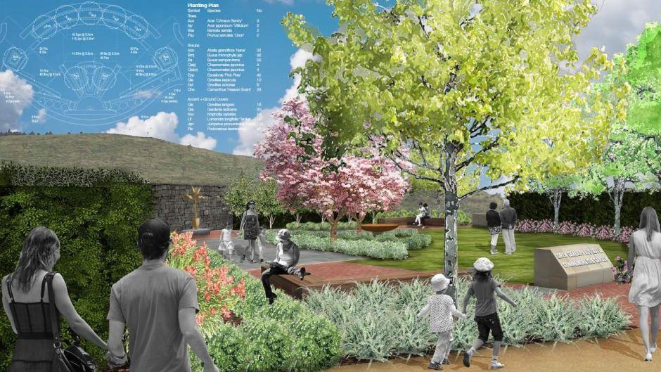 Open Gardens Australia Garden for National Arboretum, Canberra. Design Neil Hobbs