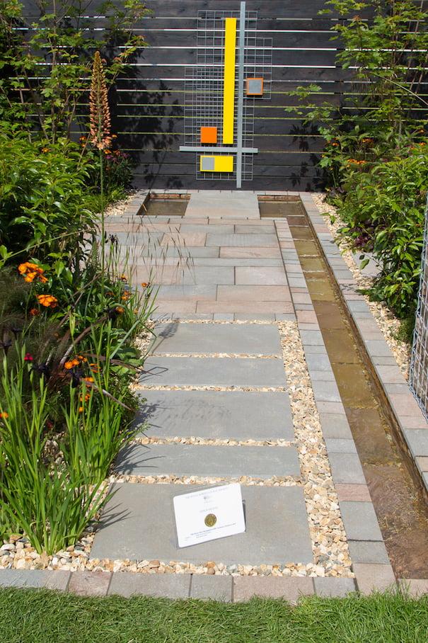 RHS Gold Medal Award: Slow Burn Show Garden at BBC Gardeners' World Live Show, NEC, Birmingham. Photo ©Ian Stratton