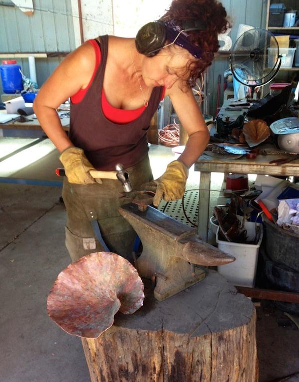 Annie Storey in her workshop