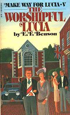 Cover of EF Benson's book 'The Worshipful Lucia' shows the Garden Room