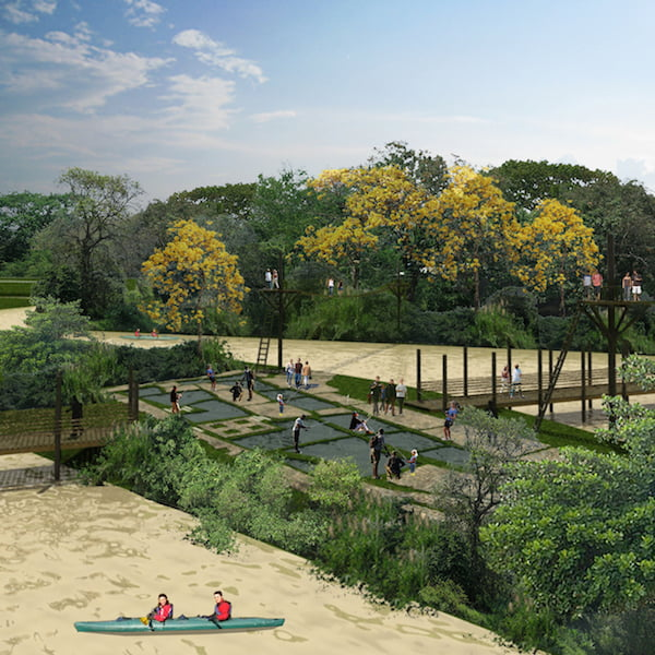 Diana Weisner's vision for an interactive community garden for Bogota, Colombia