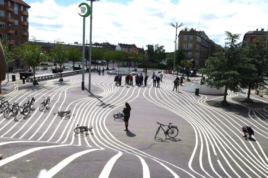 I was extremely fortunate to visit 'Superkilen', Copenhagen in early July, an award winning urban renewal project designed by Martin Rein-Cano – so much going on and such fun for everyone!
