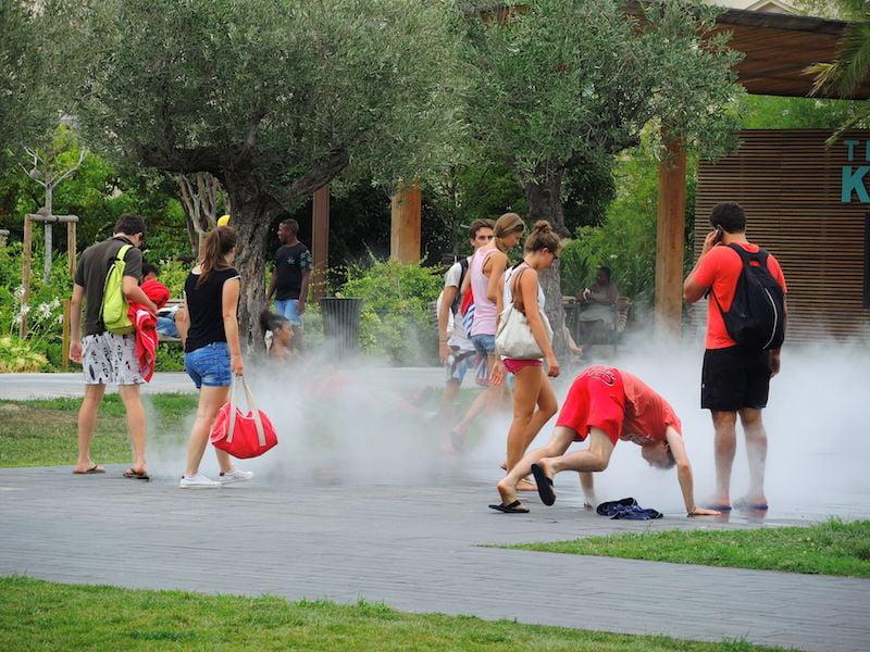 Mist garden, Promenade du Paillon, Nice
