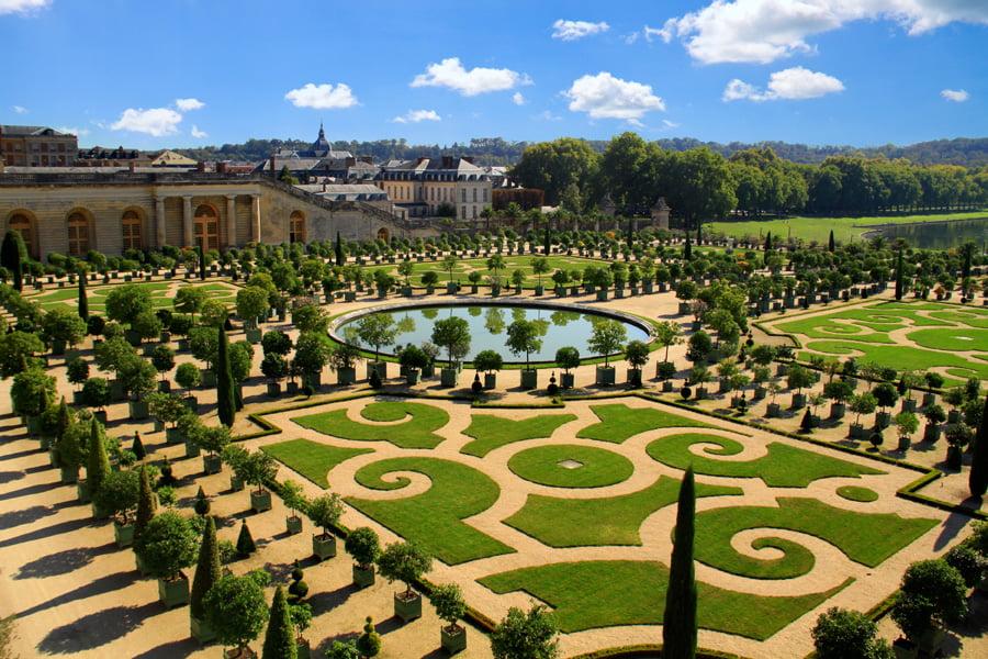 Terrace above the Orangerie at Versailles, designed by André Le Nôtre