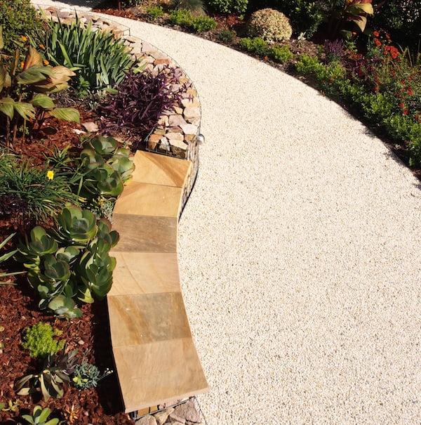 Stabilised gravel pavement in the back garden