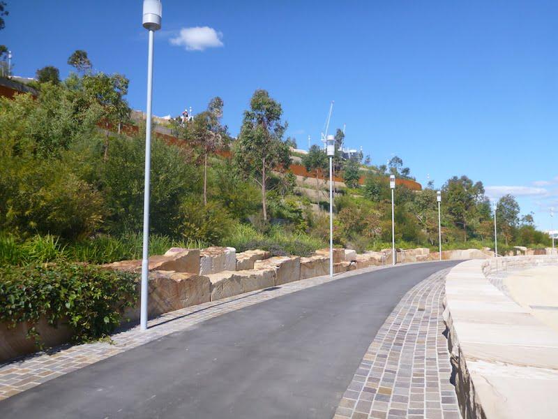 Barangaroo Point Park foreshore road