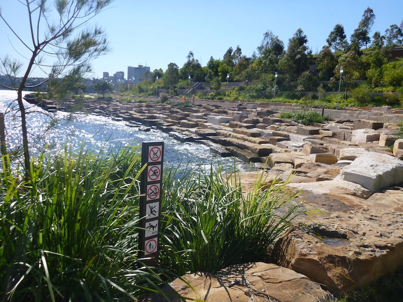 Barangaroo Point Park foreshore, southern end