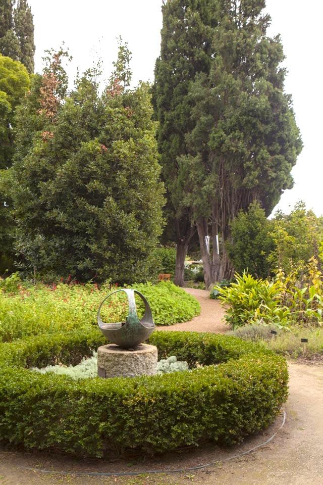 Bronze sculpture in the Herb Garden