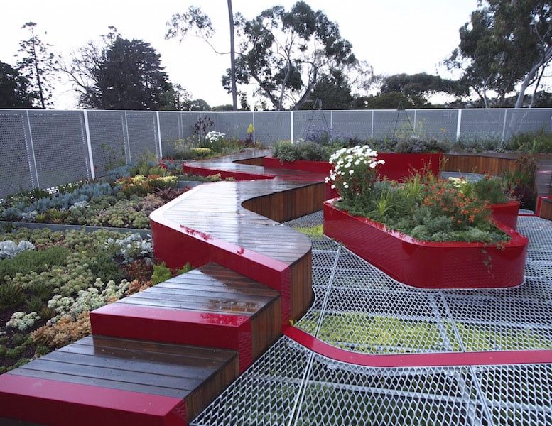 Roof garden at Burnley Campus, University of Melbourne