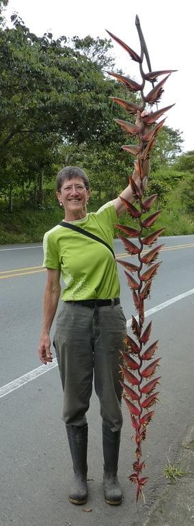 Me with Heliconia gigantea