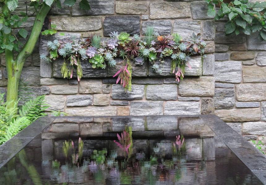 Chanticleer garden's Succulent wall