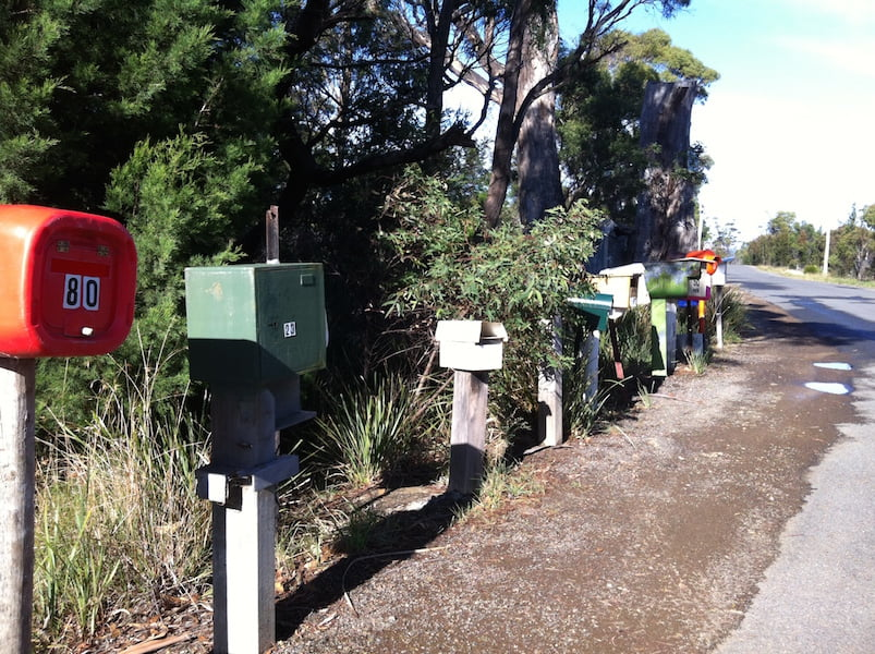 Curious and quirky group of letterboxes