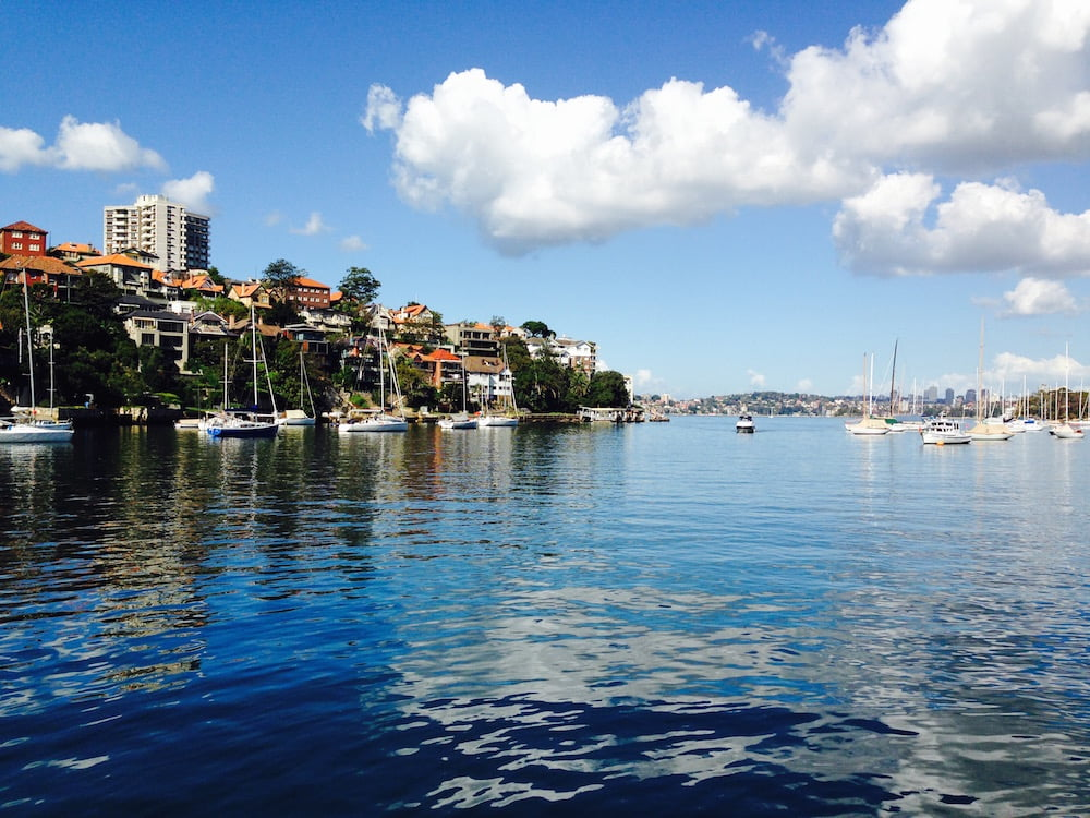Stunning Mosman Bay. It's hard to beat Sydney's beauty. Photo: Janna Schreier