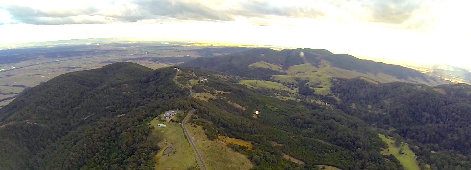 The ridgeline in the Hunter Valley, NSW