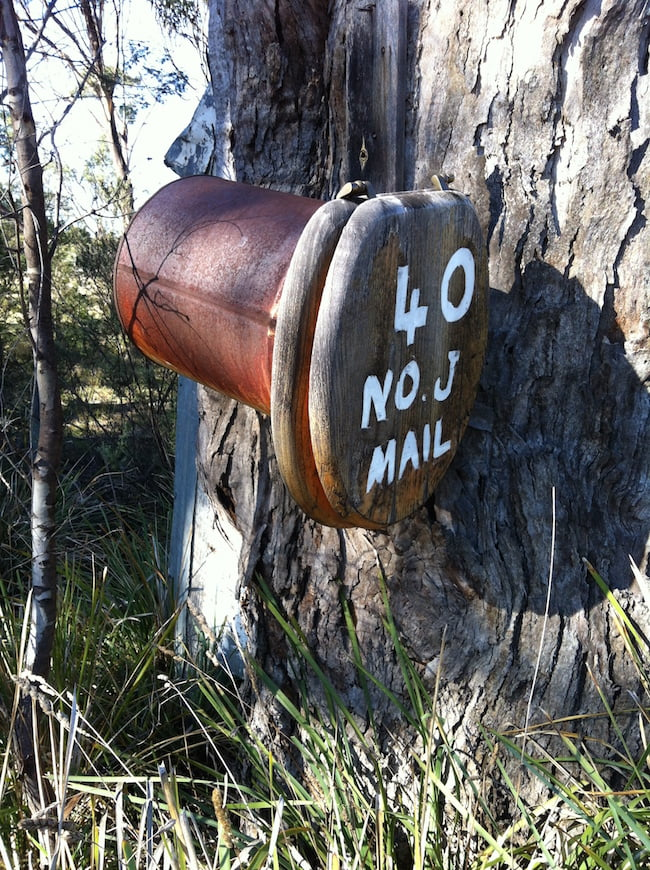 Toilet seat letterbox