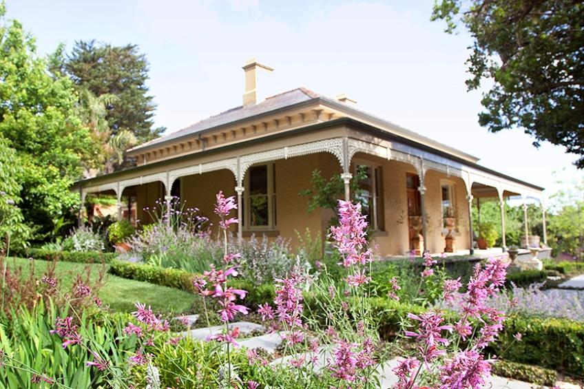 Contemporary perennial garden gives victorian era house a for Victorian garden trees