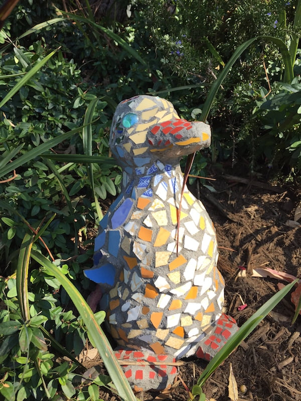Mosiac duck in my garden