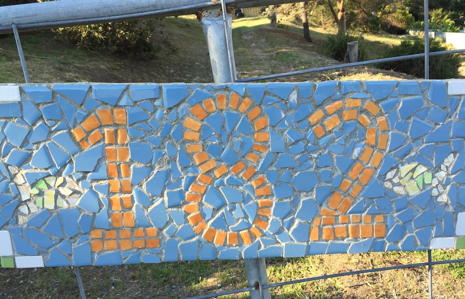 My mosaic house number sign on the gate