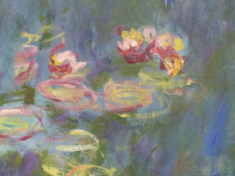 One of Monet's water lily panels in the Musee de l'Orangerie