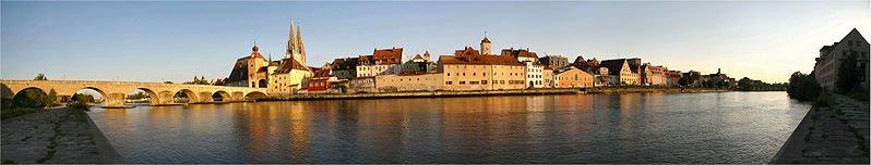 Historic Regensburg and the Danube River, Bavaria, Germany. Photo Karsten Dörre