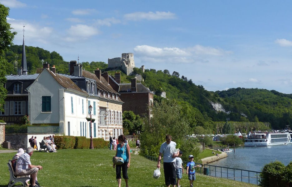 River cruise at les Andelys, Normandy