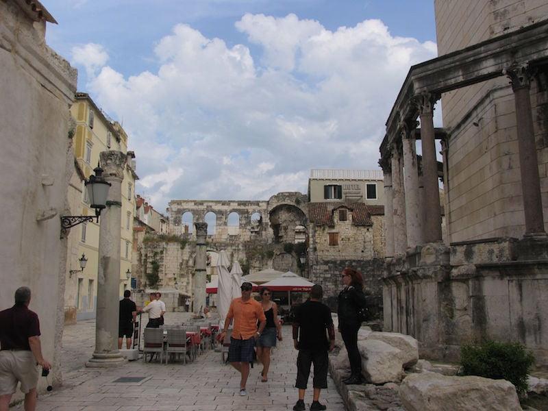 The old city of Split in Croatia