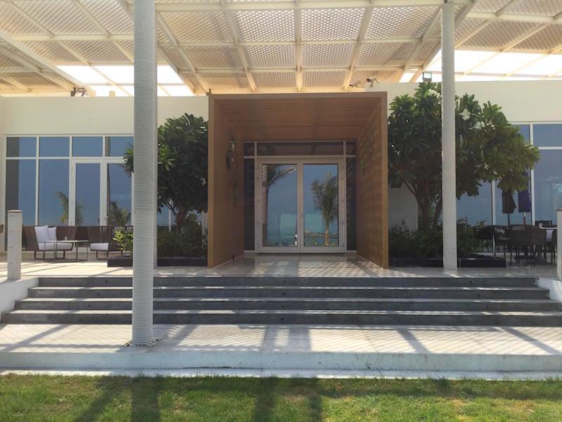 AFTER - entrance to Frangipani restaurant