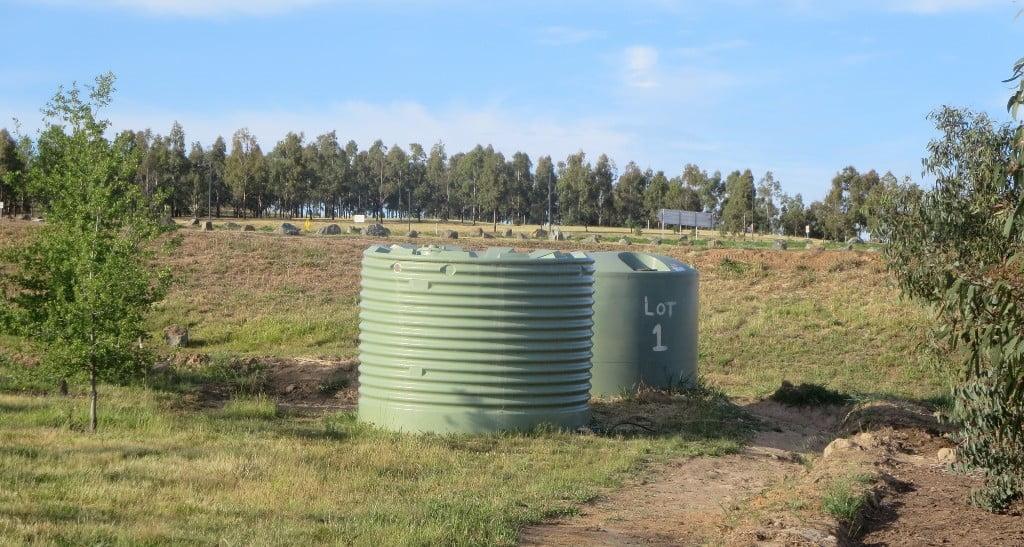 Arboretum water tanks used by STEP