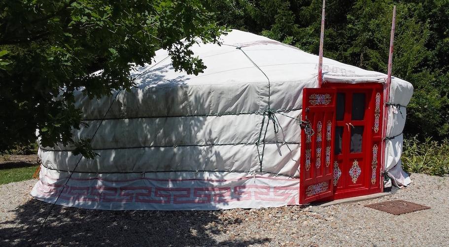 Yurt accommodation in the Jardin du Bois du Puits