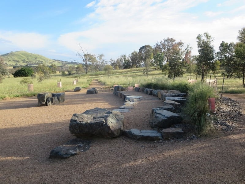 Rock amphitheatre -Southern Tablelands Ecosystem Park in the National Arboretum, Canberra ACT