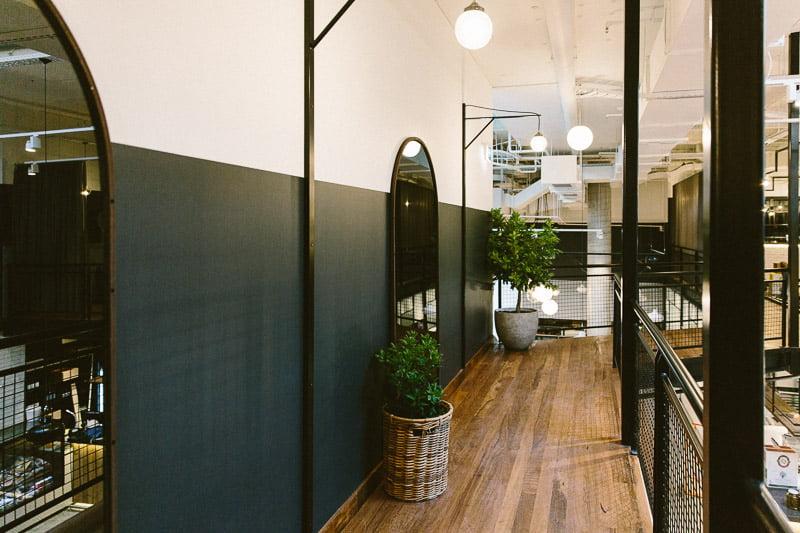 Mezzanine level at The Cellar Door. Planting design Phillip Withers. Photo Stuart Cox