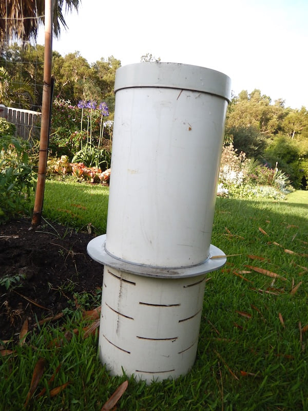 How to make a DIY drainage pipe in-ground worm farm