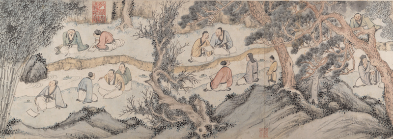 Gathering at the Orchid Pavilion, Qian Gu (Chinese, 1508–ca. 1578) at the Metropolitan Museum of Art