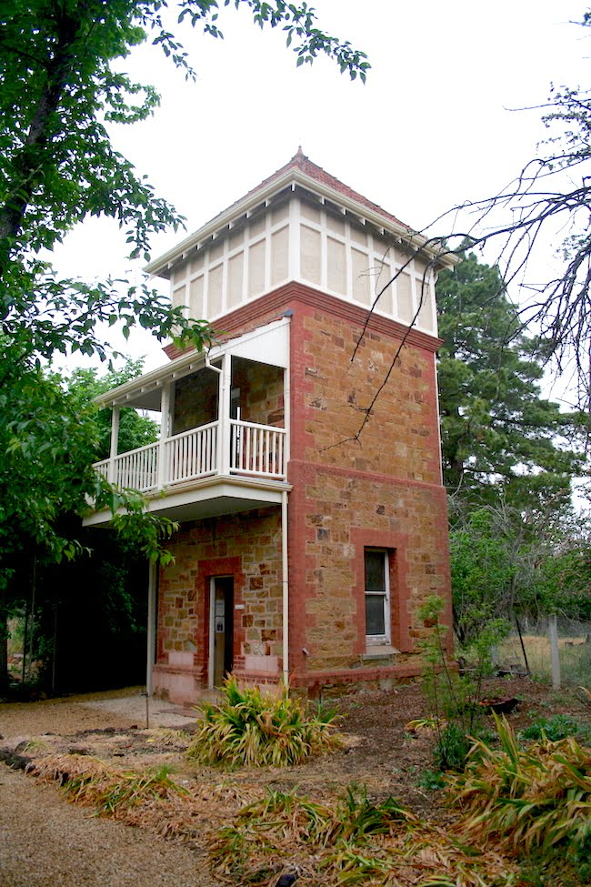 Writer's Tower where poet Jeffrey Dutton sought solitude