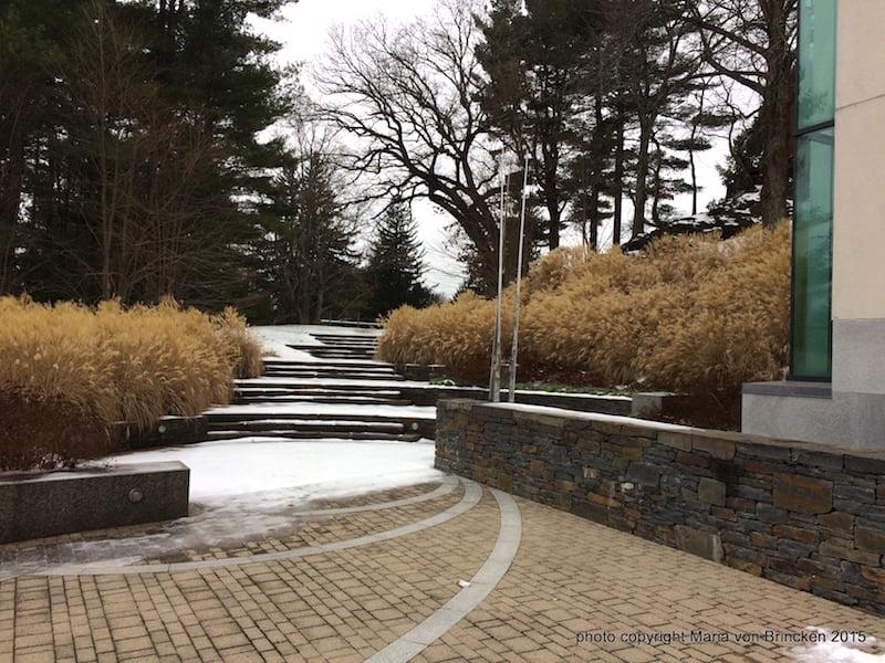 Decordova Museum gardens in winter