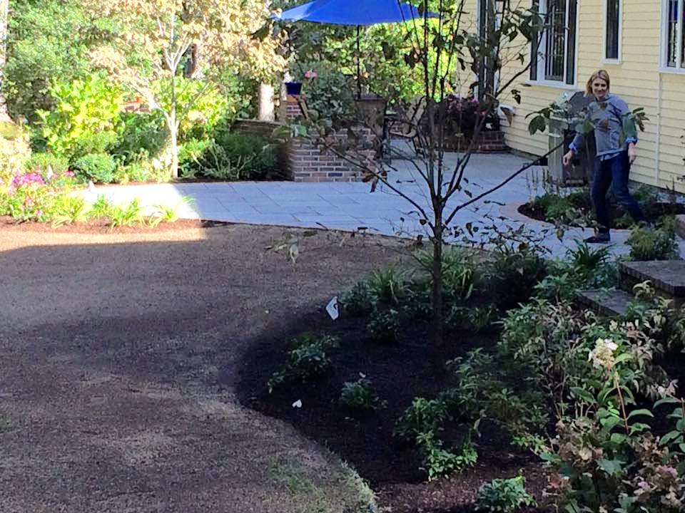 Installation just completed. Waiting the lawn seed to germinate