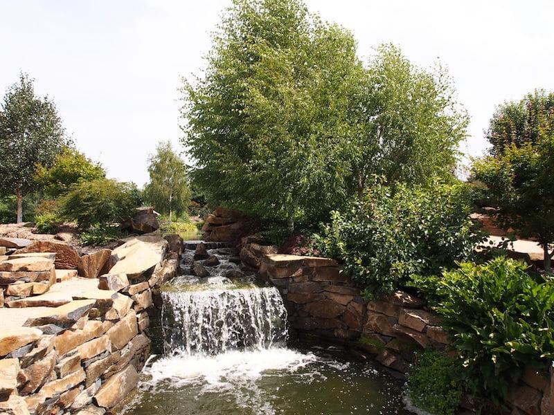 Mayfield Water Garden lower waterfall