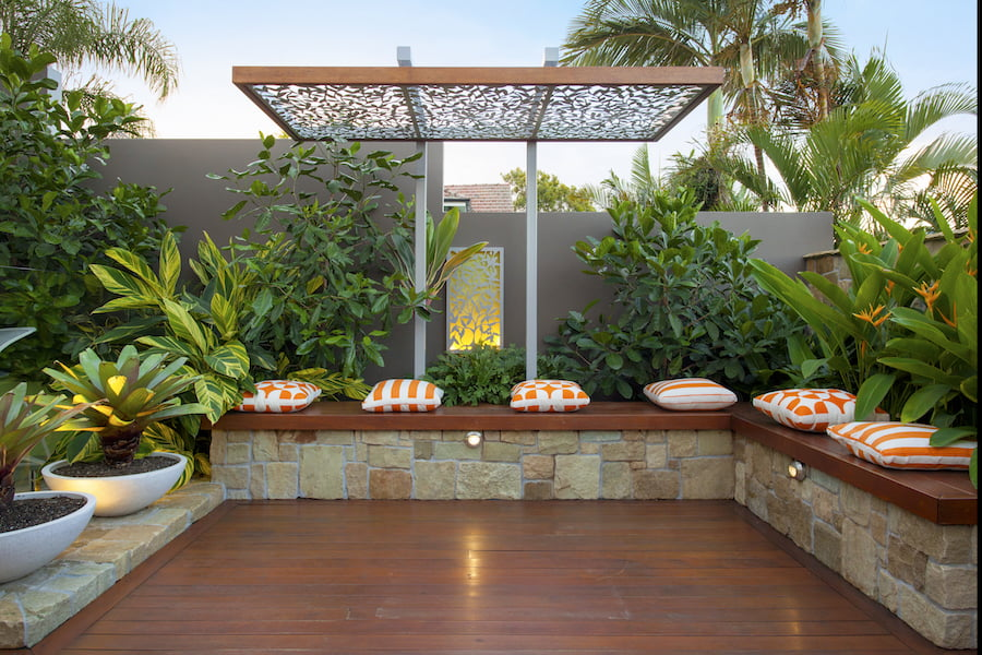Ecxcellence in small garden design by Utopia Landscape Design, Brisbane