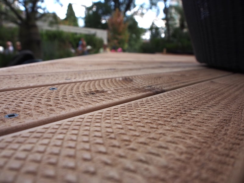 Textured cypress decking in Do the NT by Candeo Design