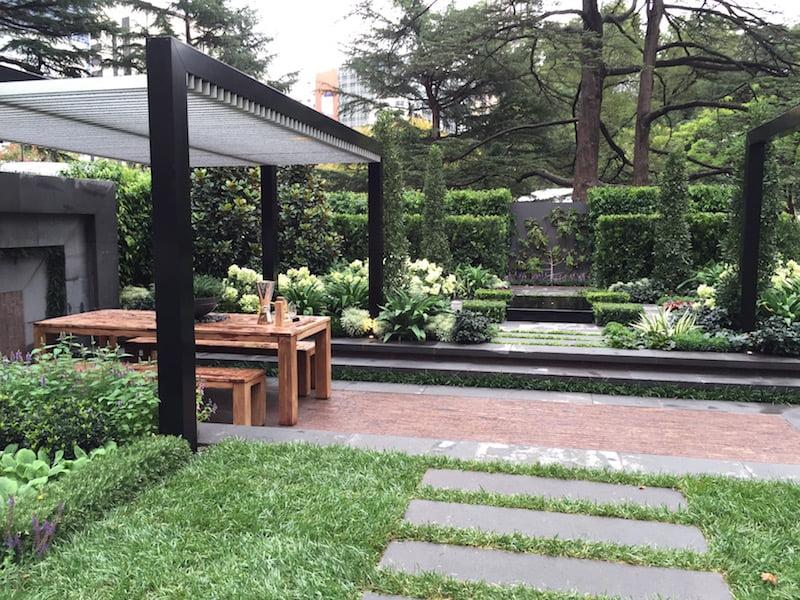 The Greenery Garden by Vivid Design - fastigiate bay trees