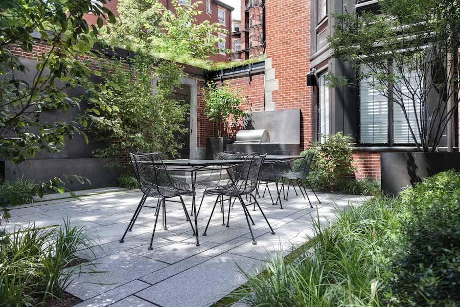 APLD Gold Award 2016 Beacon Hill courtyard by Matthew Cunningham Landscape Design LLC