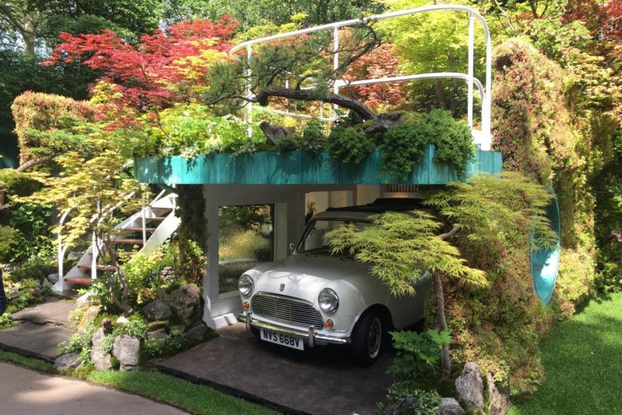 Senri-Sentei Garage Garden designed by Kazuy