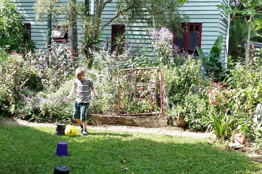The vegetable garden has been converted into a perennial flower garden and we couldn't be happier!