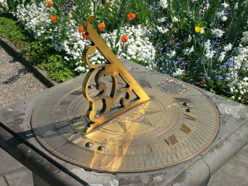 Brass sundial in Herrenhausen Gardens, Hannover. Photo Hannes Grobe
