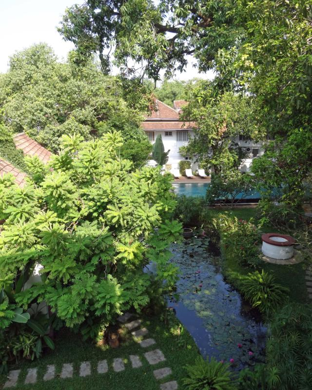 Old Harbour Hotel garden in Fort Cochin