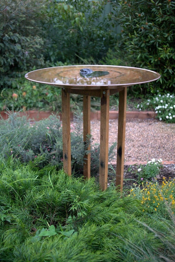 Spun copper birdbath by Mallee Design, NSW